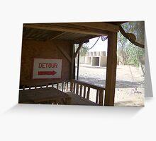 Detour? Greeting Card