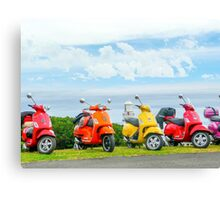 Vespas At The Lighthouse Canvas Print