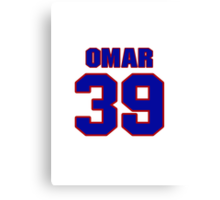 National baseball player Omar Olivares jersey 39 Canvas Print