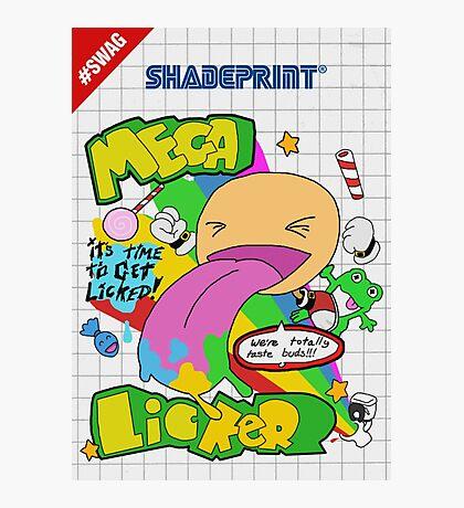 Mega Licker! [Cartridge Sleeve Art Work]. Photographic Print