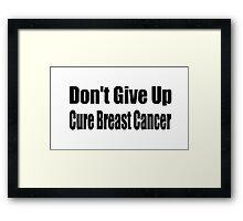 Breast Cancer Framed Print