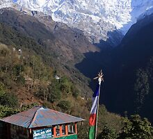 Annapurna South Himalayas Nepal by aidan  moran