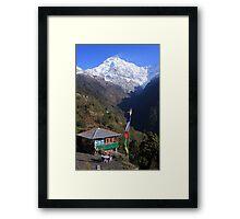 Annapurna South Himalayas Nepal Framed Print