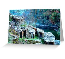 Broken roofs-Portugal Greeting Card