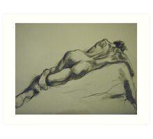 David reclining Art Print