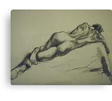 David reclining Canvas Print