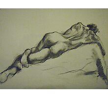 David reclining Photographic Print