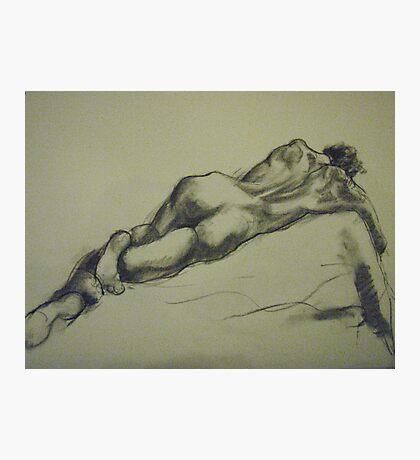 David reclining Photographic Print