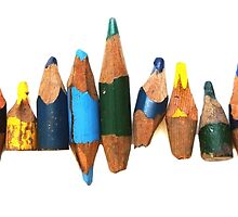 Old pencil stubs by Lyndal O'Gorman