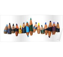 Old pencil stubs Poster