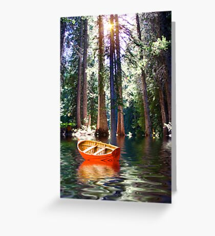 Streaming Light Greeting Card