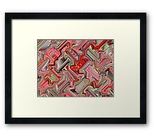 Red and Pink Cube  Framed Print