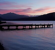 Lake Kaniere at dusk by Duncan Cunningham