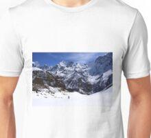 Hiker In Mountain Landscape Unisex T-Shirt