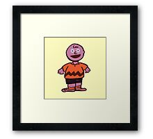 Excited Charlie Brown Framed Print