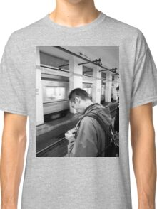 Level-up on the subway, Tokyo, Japan Classic T-Shirt
