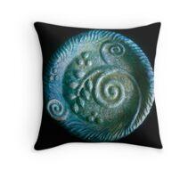 blu plate Throw Pillow