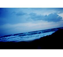 """Blue Waves"" Photographic Print"