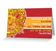 Lion Turtle Valentine Greeting Card
