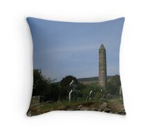 Glendalough monistary Throw Pillow