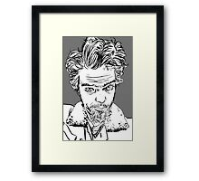 self portrait... goggly-eyed freak Framed Print