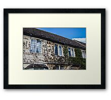 Vine-Covered Walls in Lacock Framed Print