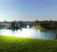 Light on Blenheim Palace lake. by Eugene Francis Cummings