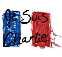 Jes Suis Charlie Hebdo Vive La France by Jacob King