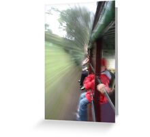 Train Ride Greeting Card