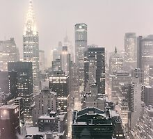 Snow - Chrysler Building - New York City - Dawn by Vivienne Gucwa