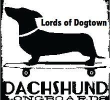 Hot Dog Dacschund Skater by djcc