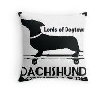 Hot Dog Dacschund Skater Throw Pillow