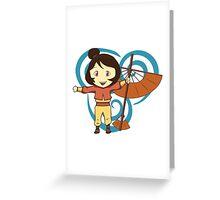 Jinora (Chibi) - Legend of Korra Greeting Card