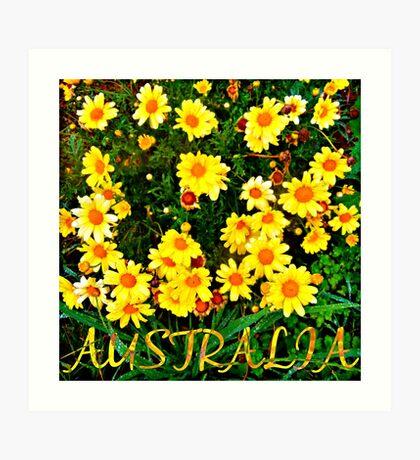 #AUSTRALIA Art Print