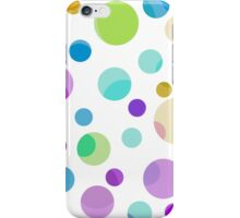 pretty, colorful graphic balls.pink, blue, yellow, green, blue iPhone Case/Skin