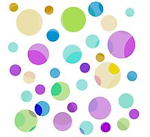pretty, colorful graphic balls.pink, blue, yellow, green, blue Photographic Print