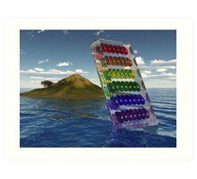 Rainbow Slice Art Print
