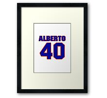 National baseball player Alberto Gonzalez jersey 40 Framed Print