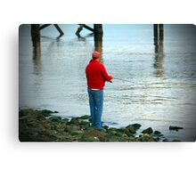 Fishing By The River Canvas Print