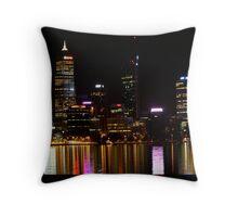 Perth Skyline at Night Throw Pillow