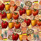 Italian Style Pizza Food Duvet Cover by Melissa Park
