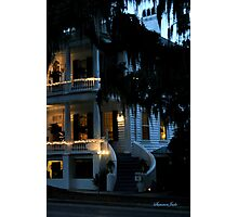 Evening at Rhett House Inn Photographic Print