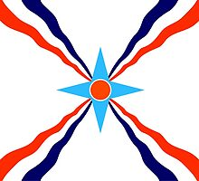 assyrian people flag by tony4urban