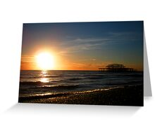 Brighton beach Greeting Card