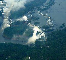 Iguassu Falls Brazil. by Maggie Hegarty