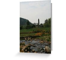 Glendalough from the river Greeting Card