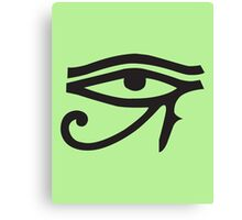 Eye of Horus Green Canvas Print