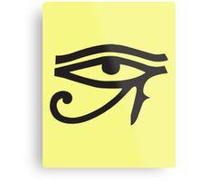 Eye of Horus Lemon Metal Print