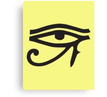 Eye of Horus Lemon Canvas Print