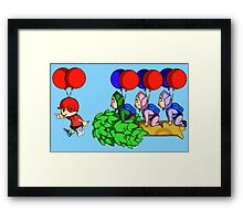 Balloon Fight: Villager Style Framed Print